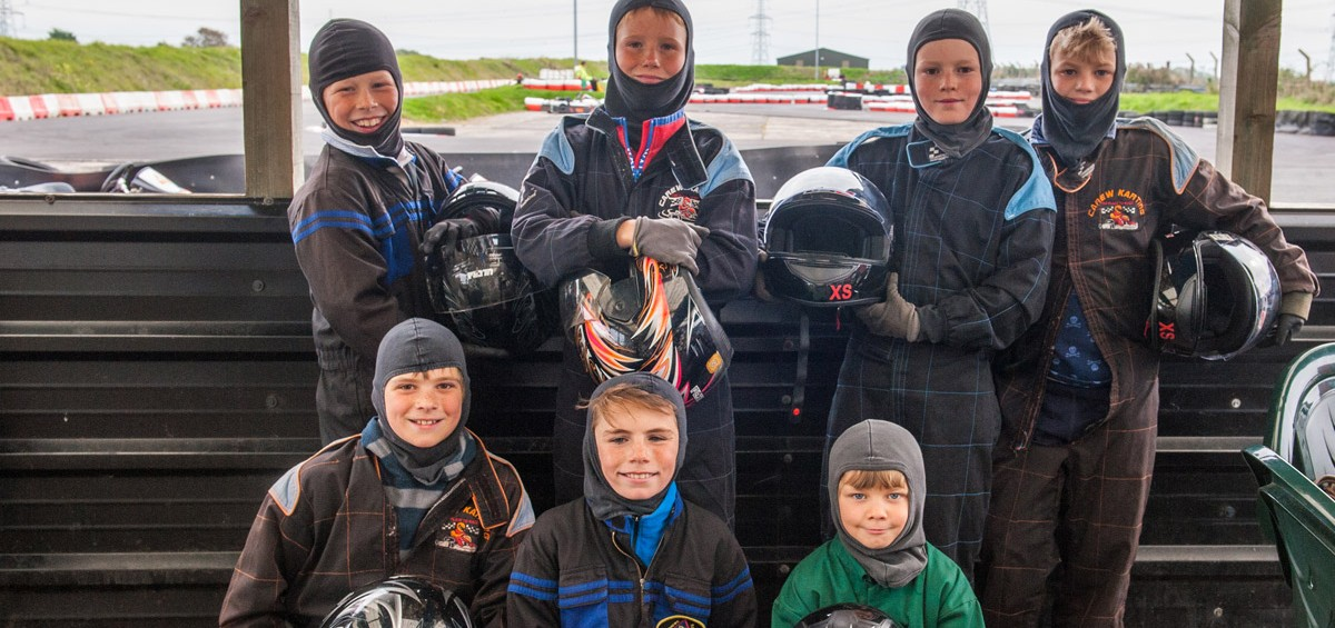 children karting in carew karting